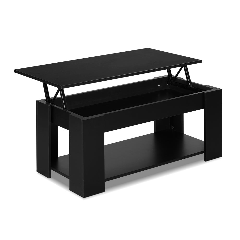 Lift Up Top Coffee Table Tea Side Interior Storage Space Shelf