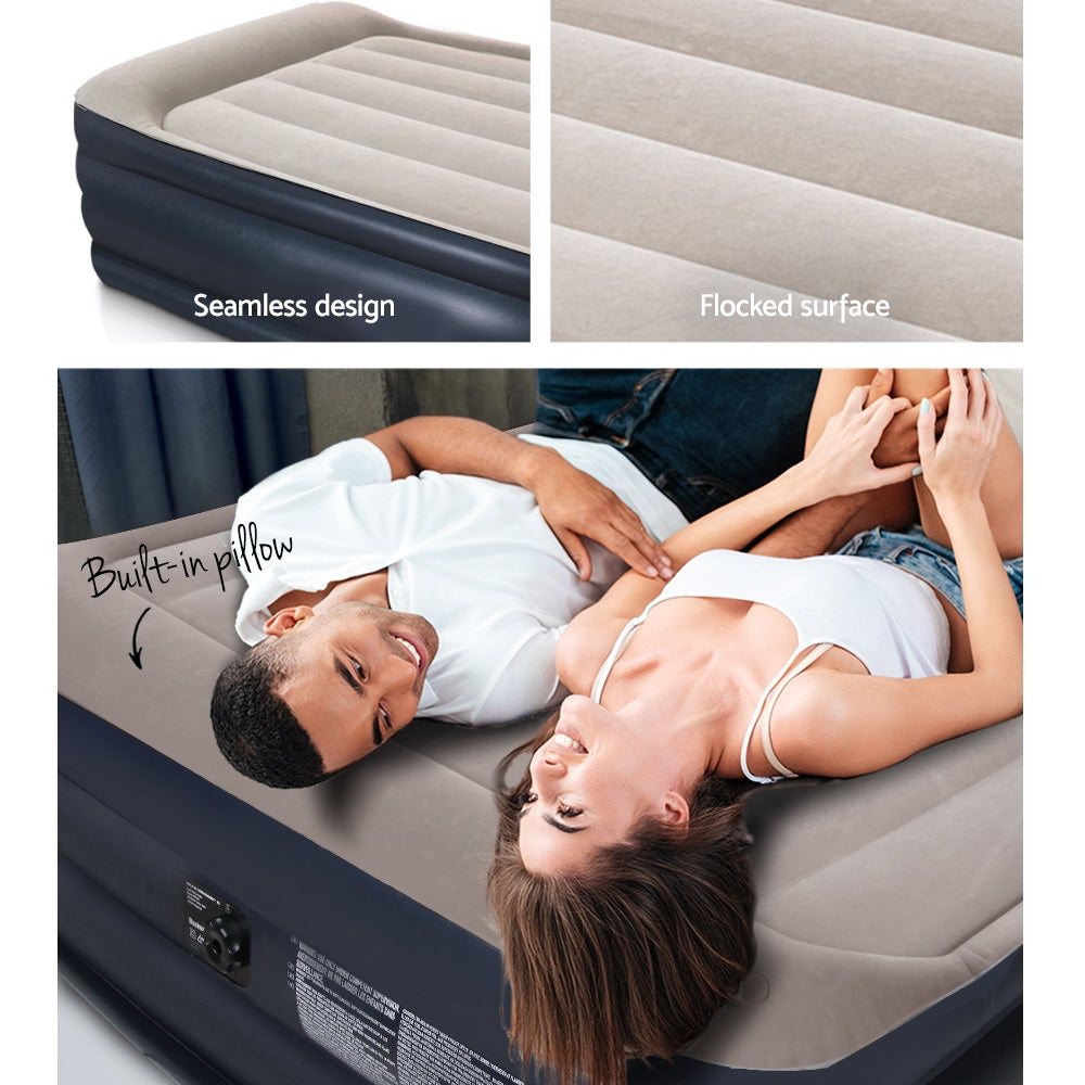 Bestway Single Twin Air Bed Inflatable Mattress Built In