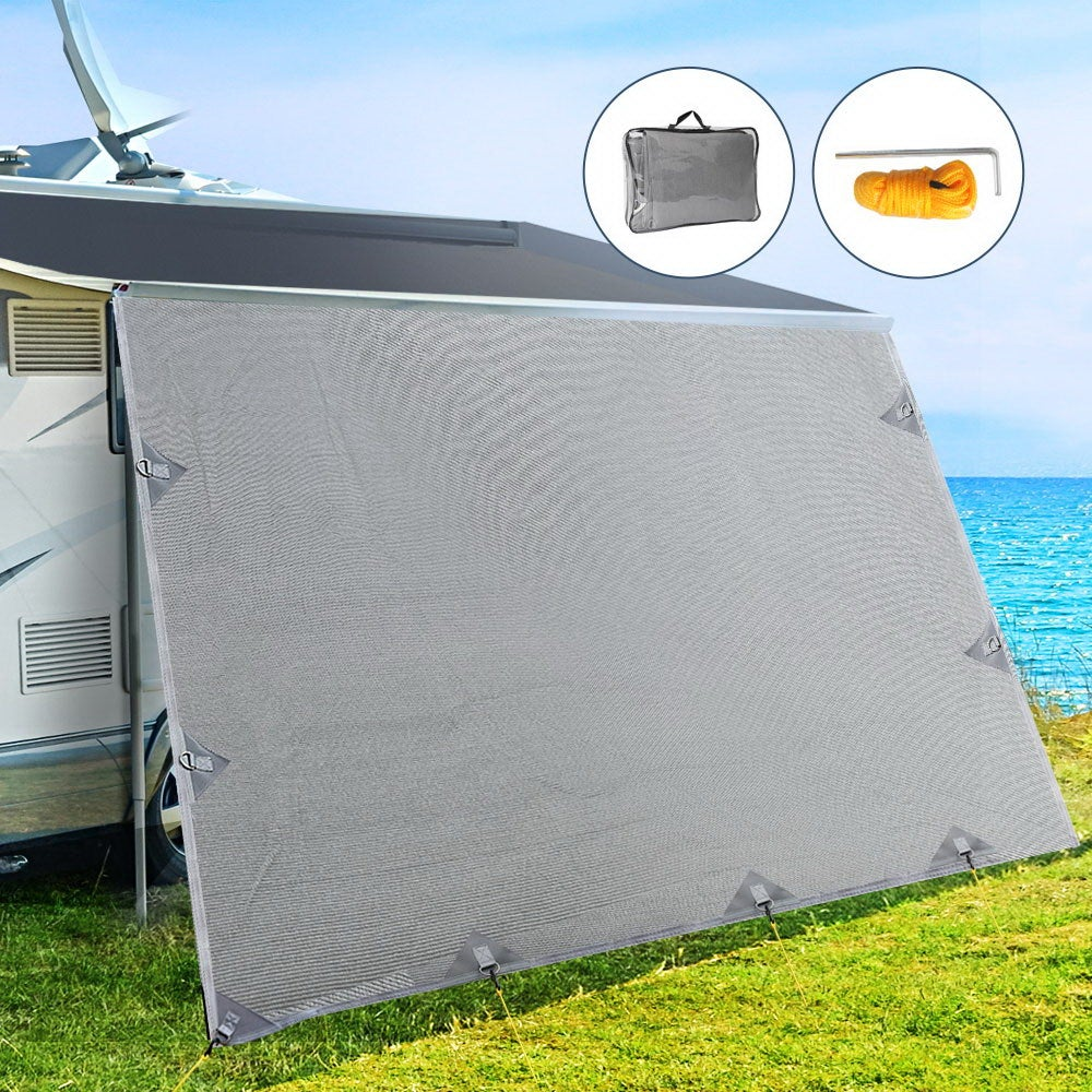 4M Caravan Privacy Screen Screens End Wall Side Shade Roll ...