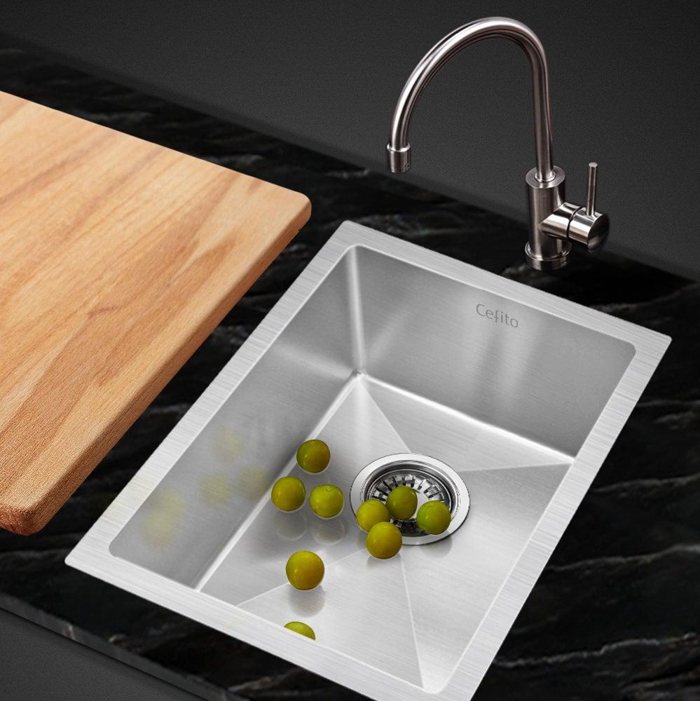 Cefito 340x440mm Nano Stainless Steel Kitchen Sink Handmade Top Undermount Bowl