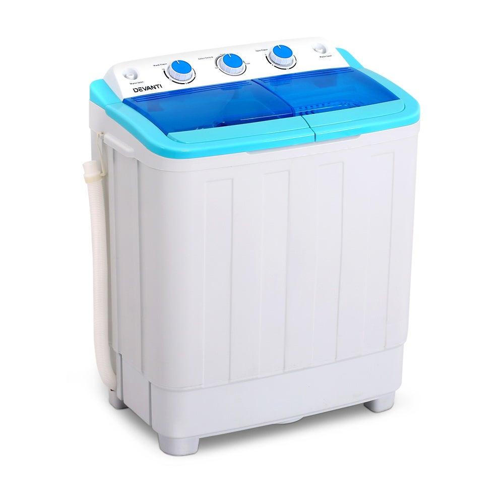 Devanti 5KG Portable Washing Machine Twin Tub Top Loader ...
