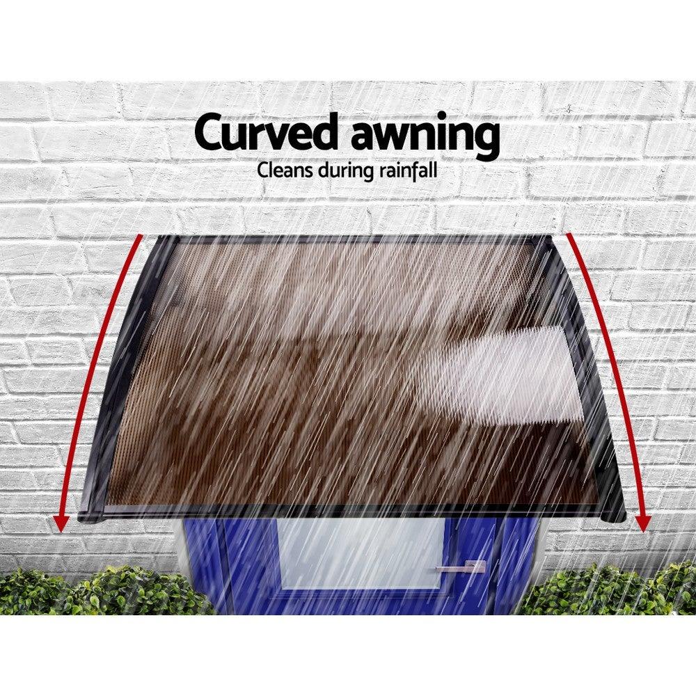 1m x 1m DIY Window Door Awning Canopy Patio UV Sun Shield ...