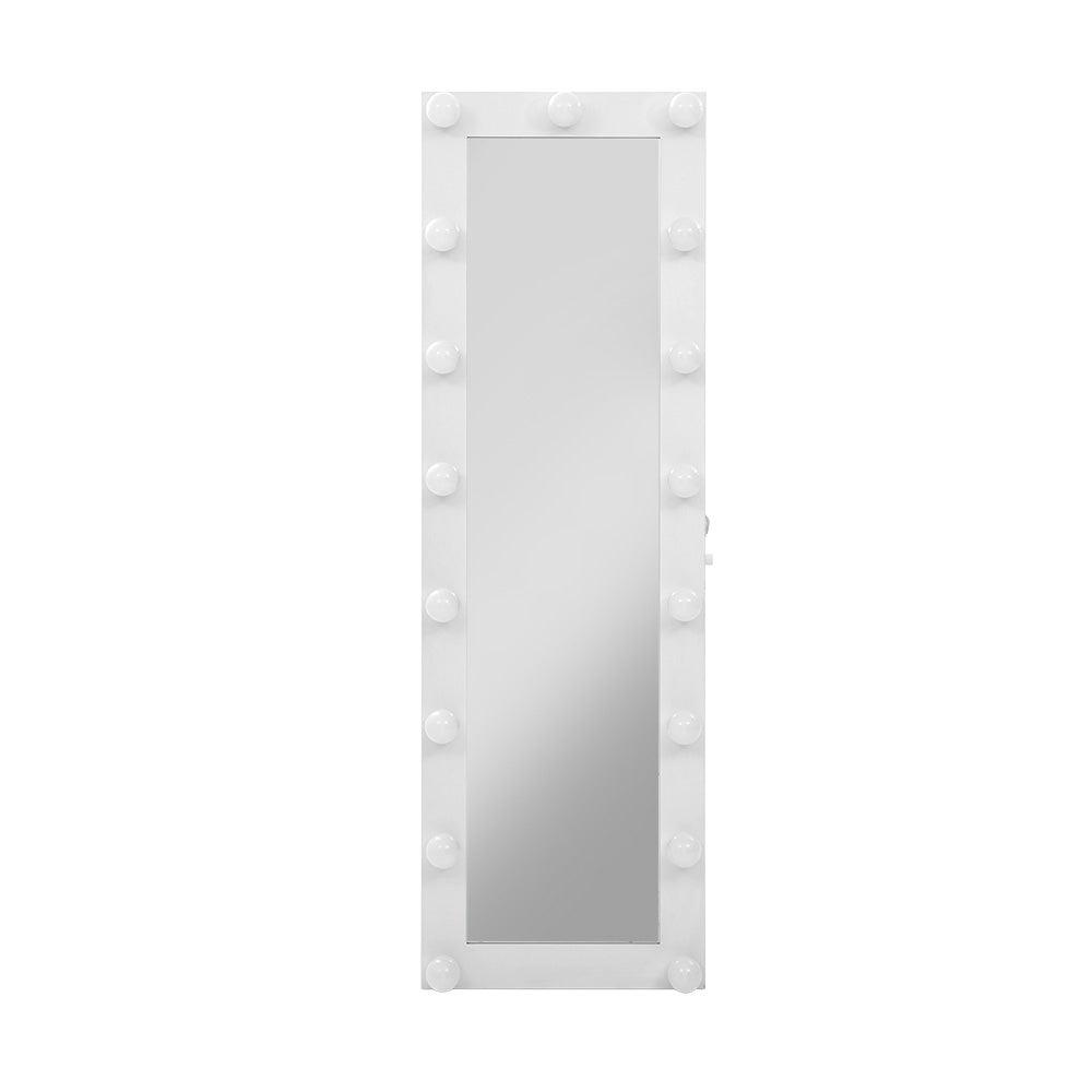 Full Length Mirror Floor Standing Makeup Wall Light Bulbs ...