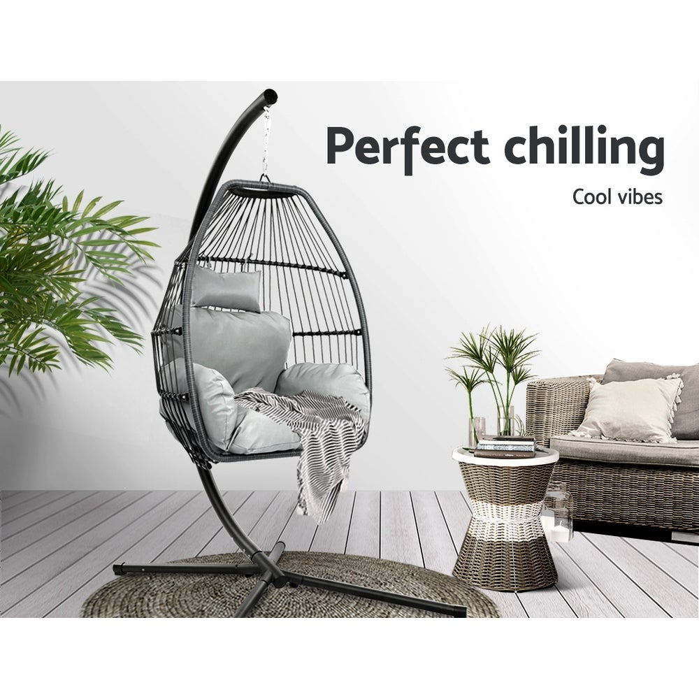 Outdoor Furniture Egg Hammock Hanging Swing Chair Stand ...