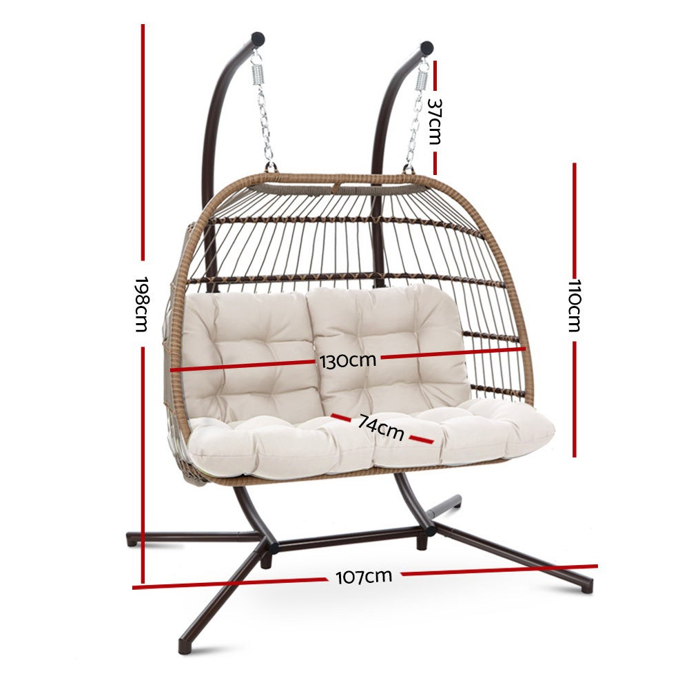 Outdoor Furniture Hanging Swing Chair Stand Egg Hammock ...