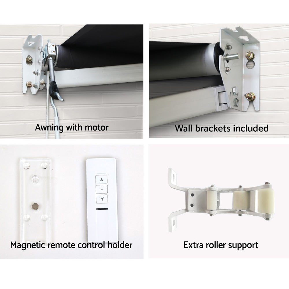 Motorised Folding Arm Awning Retractable Outdoor ...
