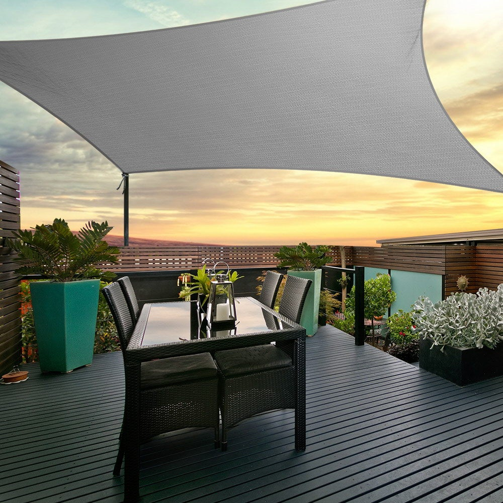 Instahut Sun Shade Sail Cloth Canopy Shadecloth Awning ...