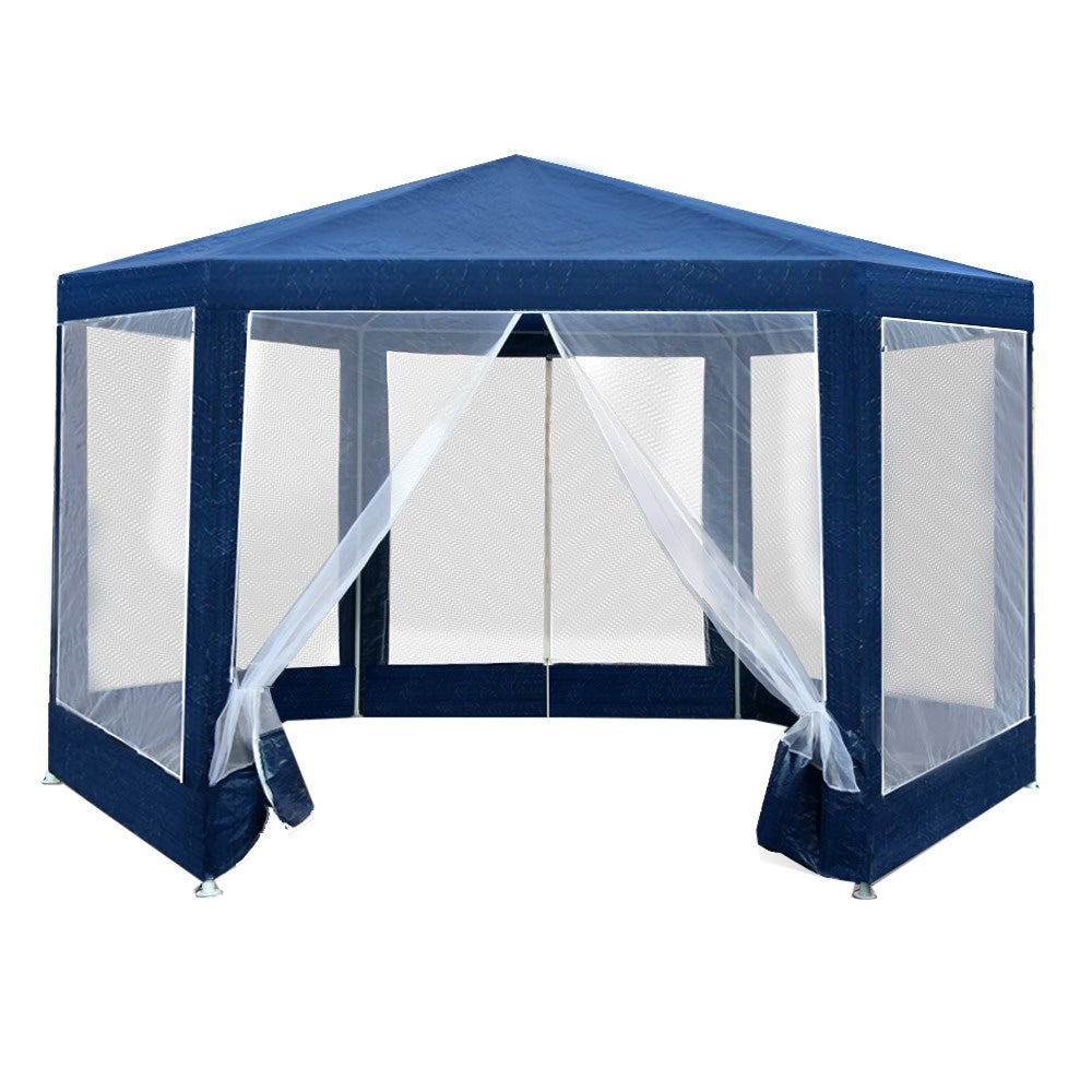 Gazebo Party Tent Marquee Canopy Mesh Wall Outdoor Camping ...