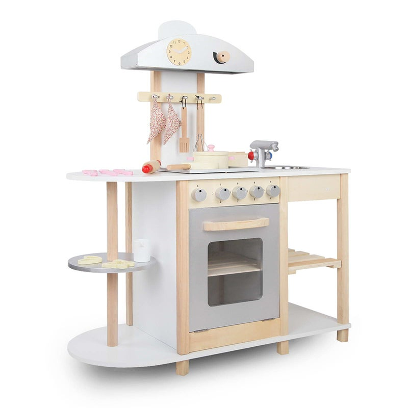 Keezi Kids Kitchen Play Set Pretend Wooden Childrens Toys Cooking
