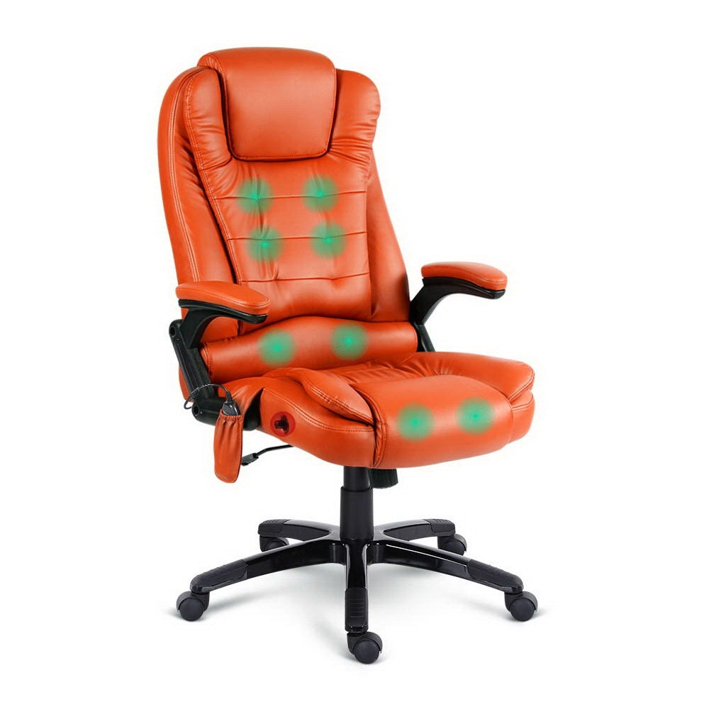Artiss Massage Office Chair Heated Gaming Chair Computer
