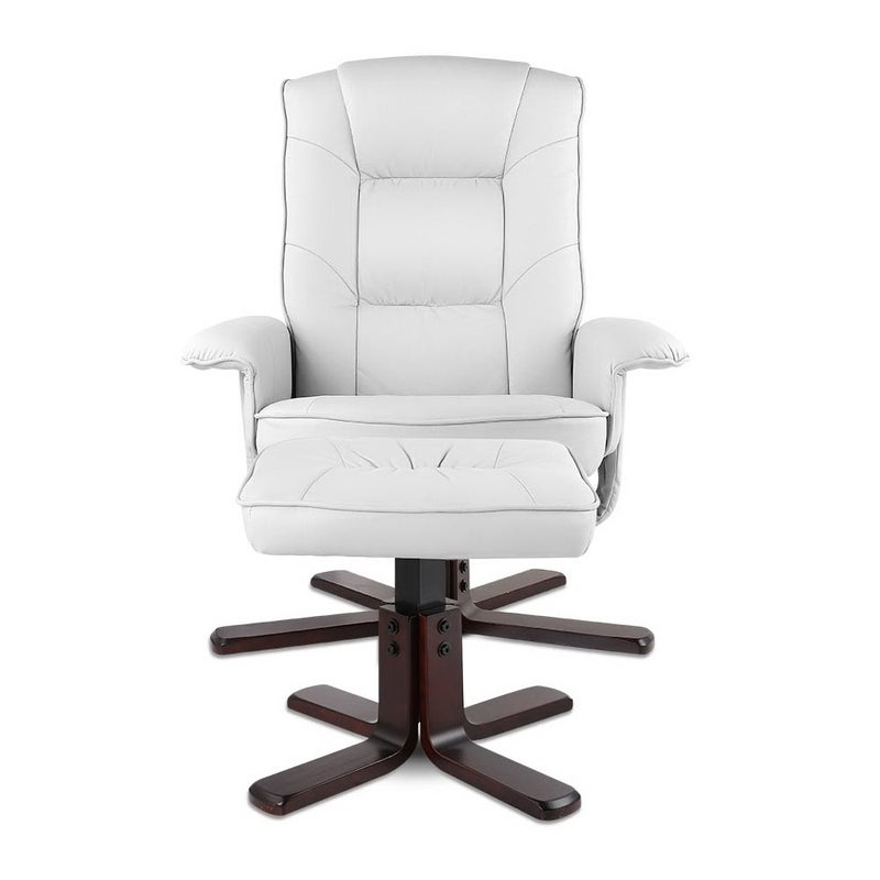 Artiss Pu Leather Wood Armchair Recliner White Buy