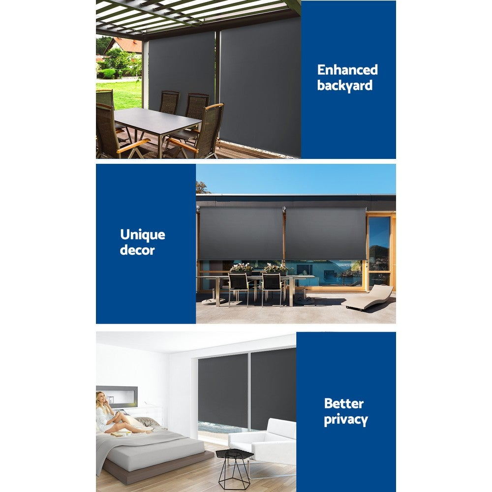 Retractable Straight Drop Roll Down Awning Patio Screen 1 ...