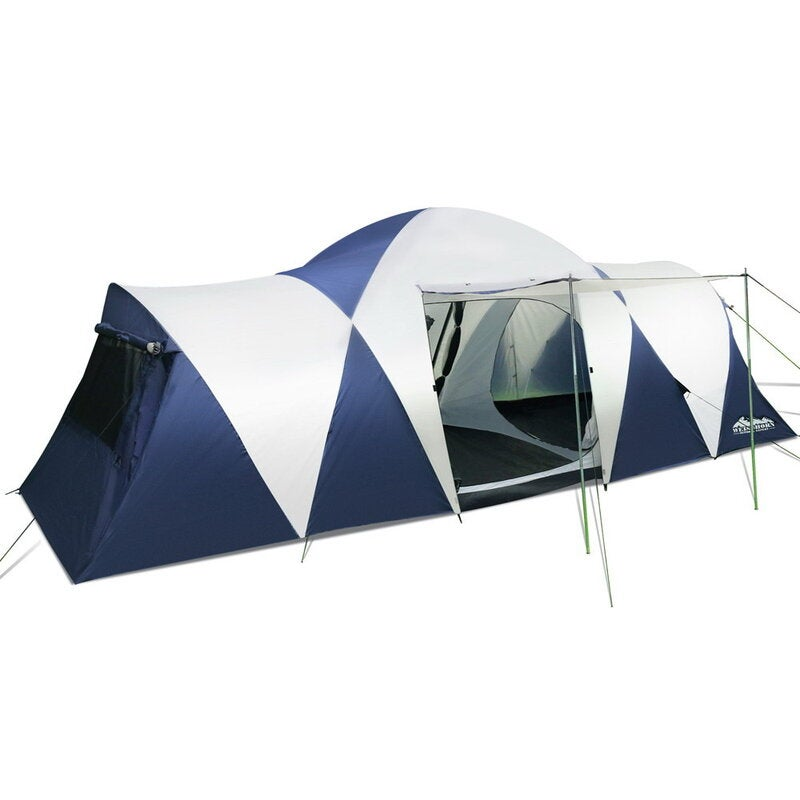 Camping Tent 12 Person Hiking Beach Tents Canvas Swag ...