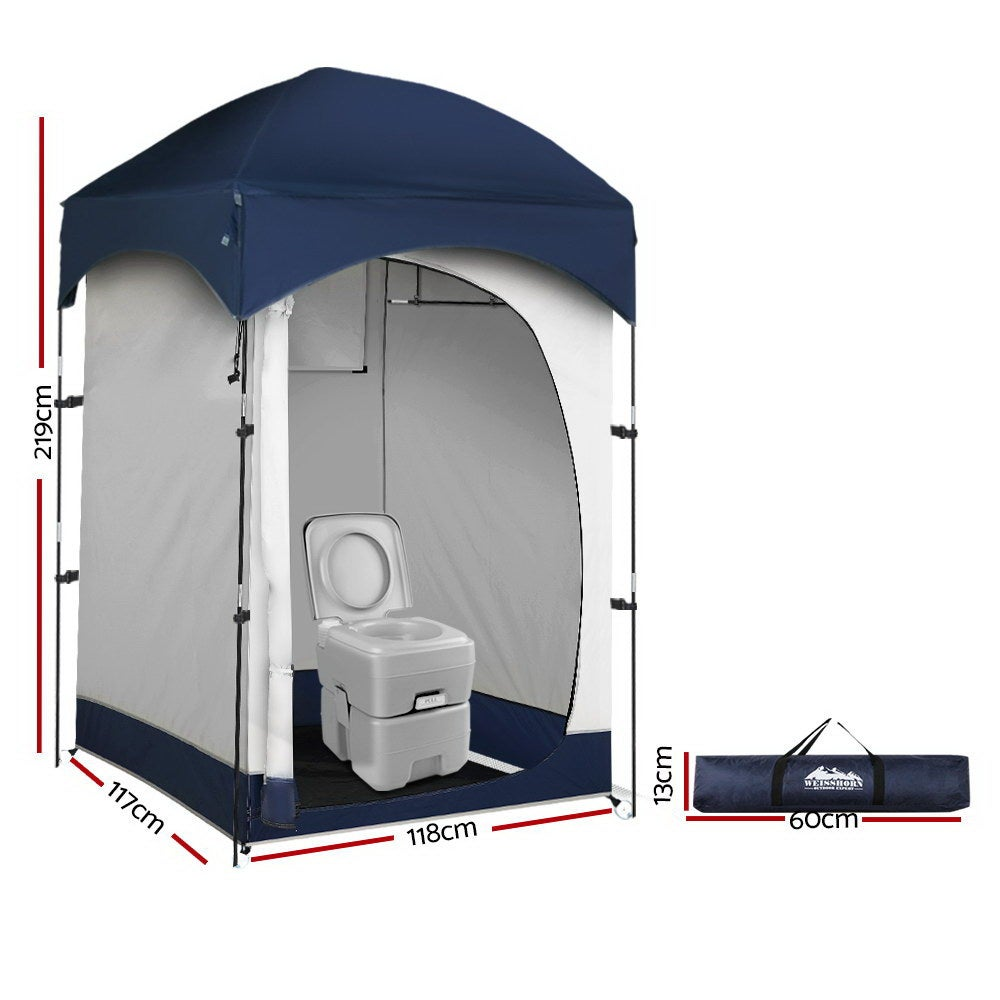 Weisshorn 20L Outdoor Portable Toilet Camping Shower Tent