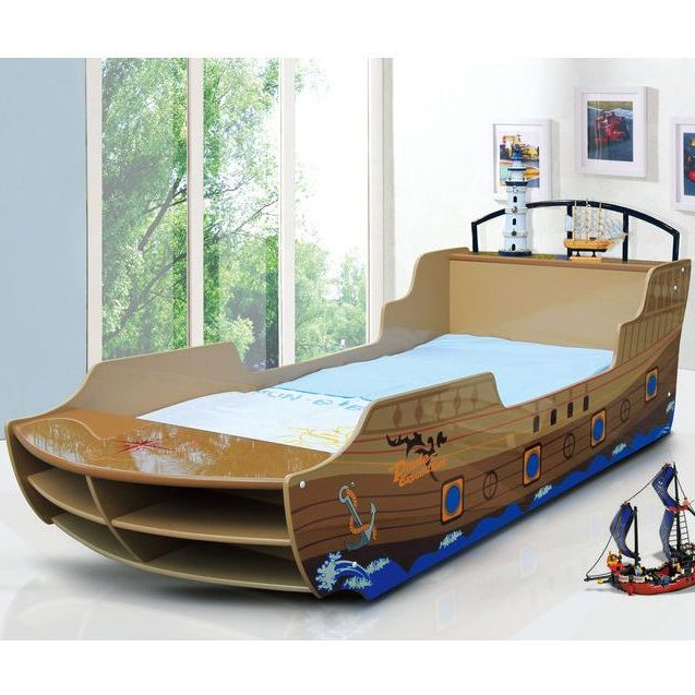 huge selection of 57ba6 4bf16 Kids Single MDF Pirate Ship Sea Rover Bed Frame