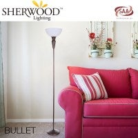 Bullet Metal Floor Lamp with Bronze Base