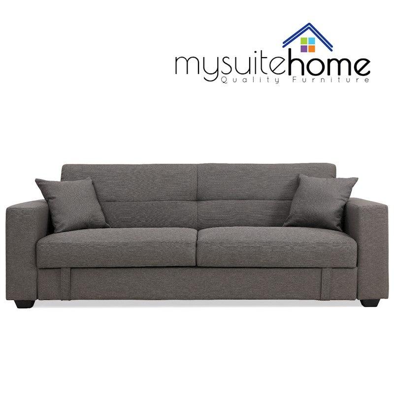 Swell Erica Grey Fabric Sofa Bed Storage Evergreenethics Interior Chair Design Evergreenethicsorg