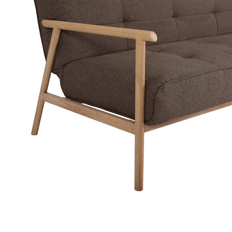 Ashton Sofa Dressed With Our Madison Ottoman And A: Ebba 3 Seater Scandi Style Sofa Bed - Cacao