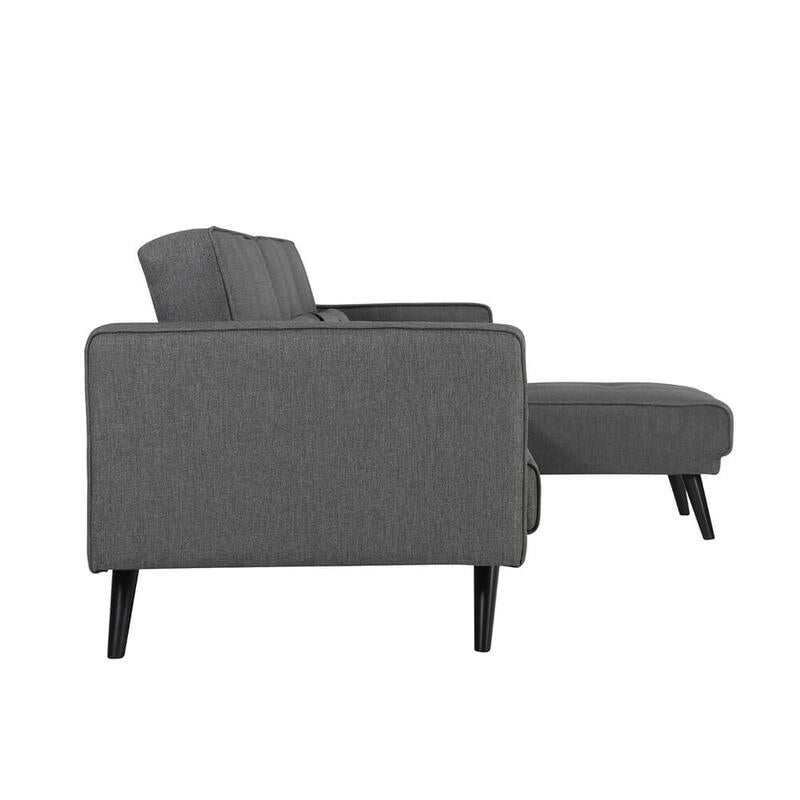 Jonas 4 Seater Chaise Sofa Bed With Cushions Dark Grey
