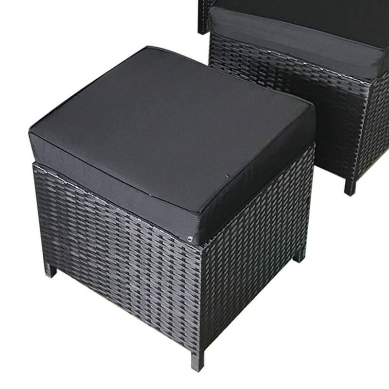 Saba Black 10 Seater Outdoor Dining Set Charcoal