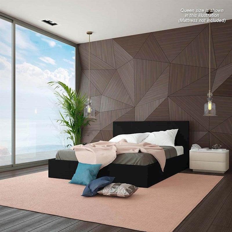 Luxo Sabina King Single Gas Lift Storage Bed Black Buy