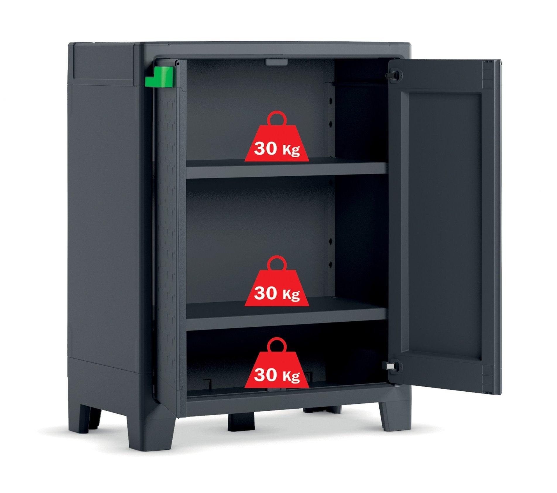 Keter Storage Cabinet Indoor-Outdoor Low (Moby)   Buy ...