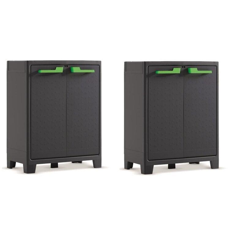 2 x Keter Moby Low Indoor-Outdoor Storage Cabinets | Buy ...