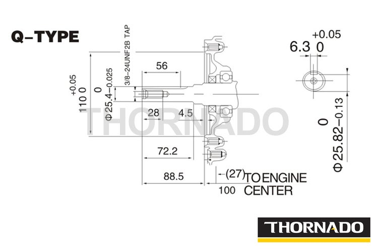 Stationary Motor 13HP Petrol Engine 25.4mm Key Shaft
