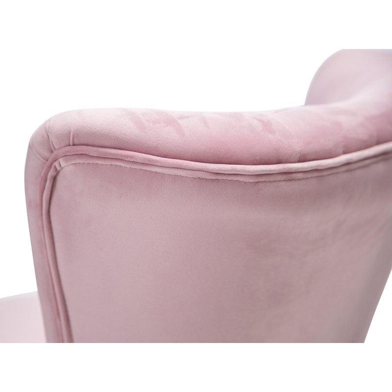 Brilliant Velvet Blush Pink Slipper Accent Chair Ibusinesslaw Wood Chair Design Ideas Ibusinesslaworg
