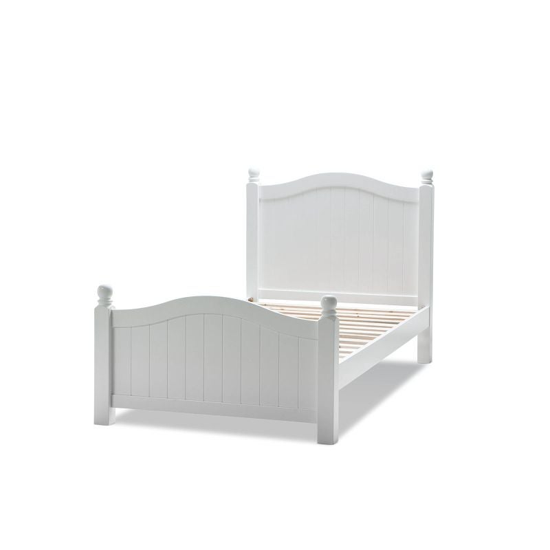 Emma Single Size Arched Wooden Bed Frame In White Buy