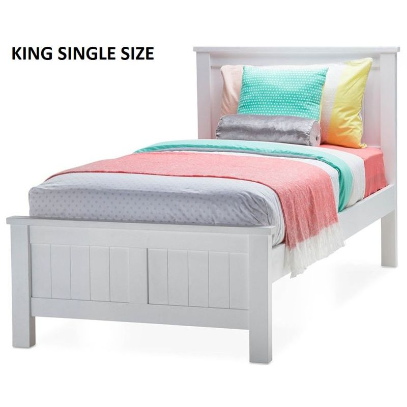 new product 95e46 33031 Snow King Single Size Wooden Bed Frame in White