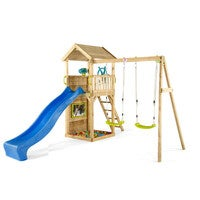 Plum Kids Wooden Playground Tower W/ Swings & Slide