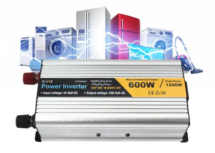 600w 1200w 12v 240v Power Inverter Modified Sine Wave Camping Caravan Boat