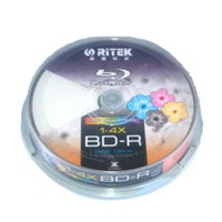 Ritek Blu-Ray BD-R 2X 25GB 130Min White Top Printable 10pcs