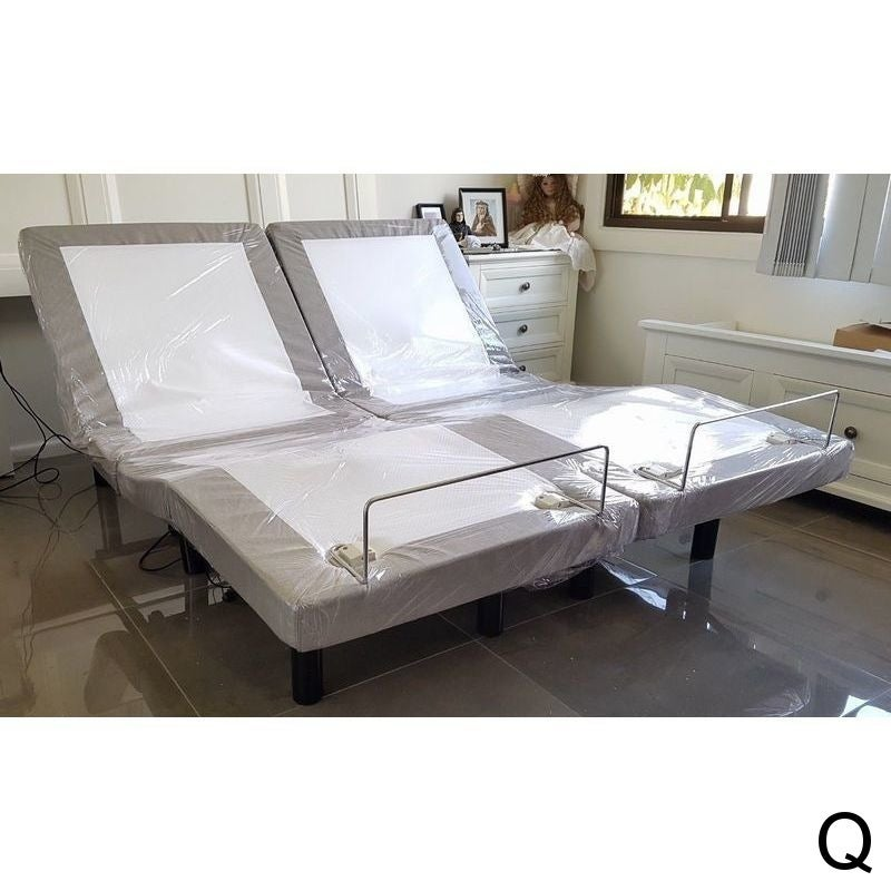 Comfortposture Split Queen Electric Adjustable Bed With Massage