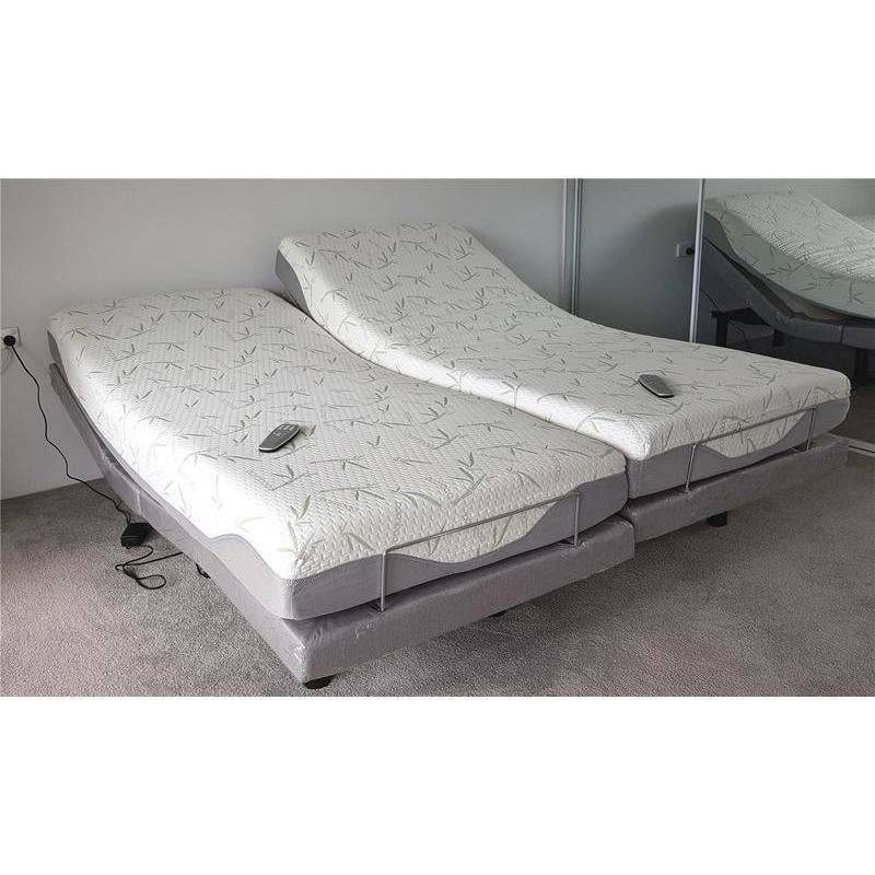 Split Queen Adjustable Bed >> Comfortposture Split Queen Electric Adjustable Bed With Memory Foam Mattress
