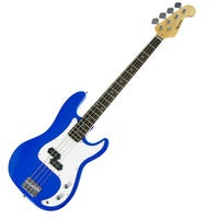 Karrera 4-String Electric Bass Guitar Musical Instrument - Blue