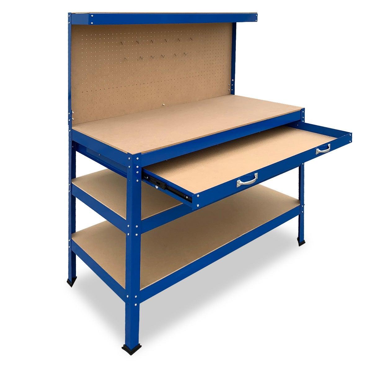 3-Layered Work Bench Garage Storage Table Tool Shop Shelf ...