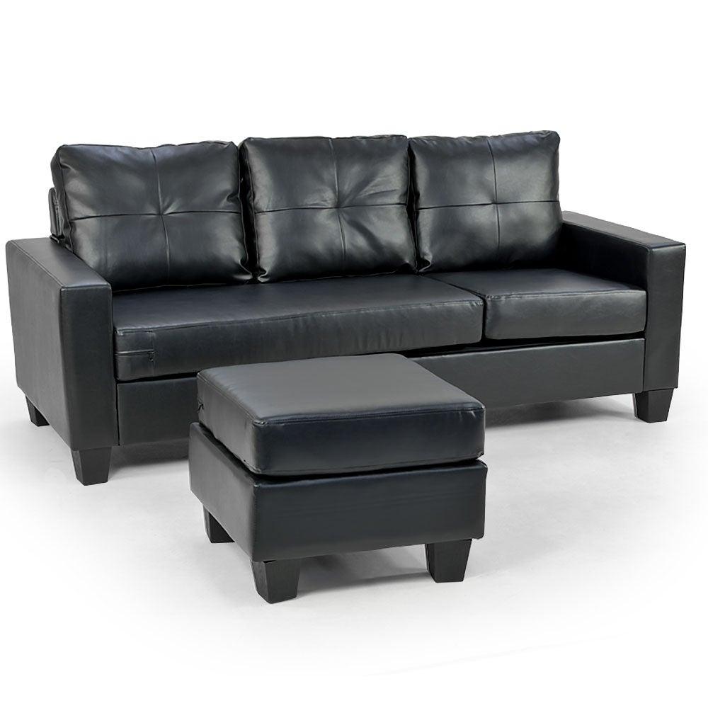 Incredible Corner Sofa Lounge Couch Modular Furniture Chair Home Pu Leather Chaise Black L Creativecarmelina Interior Chair Design Creativecarmelinacom