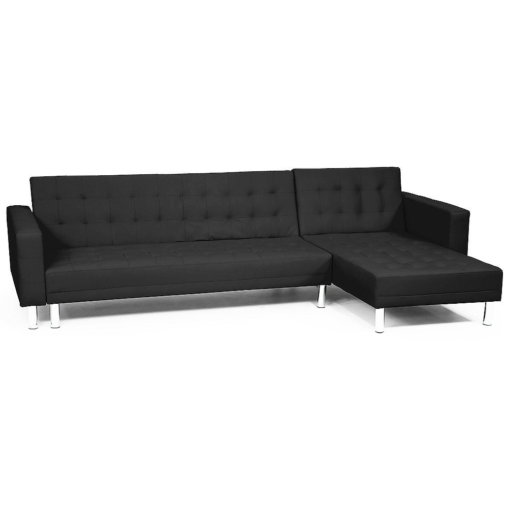 Excellent Corner Sofa Lounge Couch Bed Modular Furniture Home Faux Leather Chaise Black Creativecarmelina Interior Chair Design Creativecarmelinacom