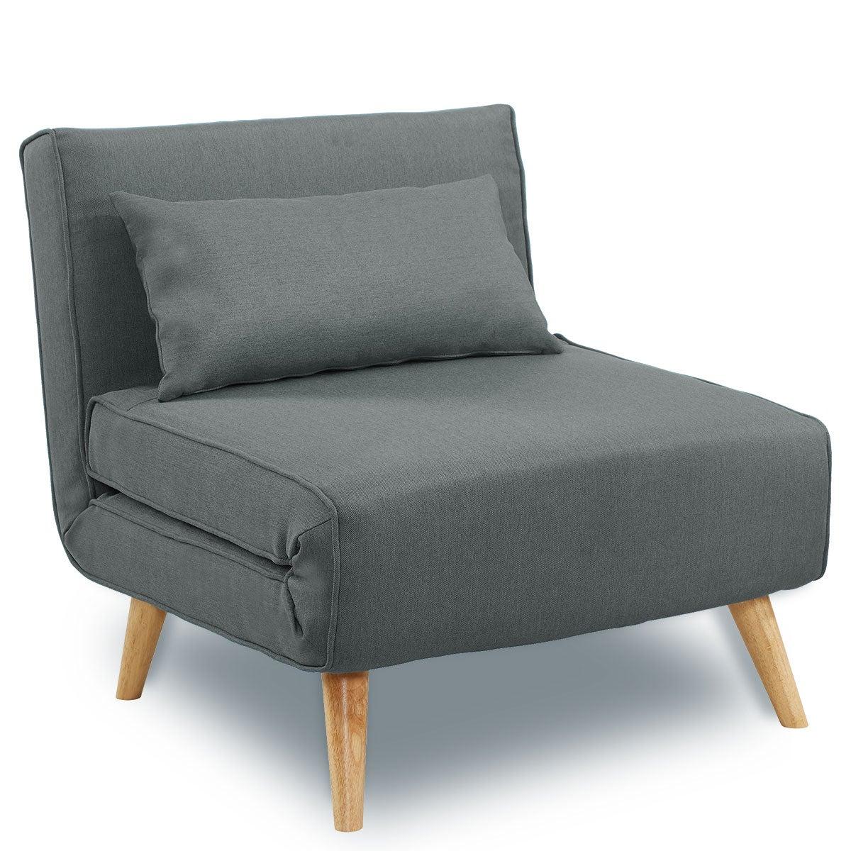 Linen Corner Sofa Bed Comfortable Chair Single Seater