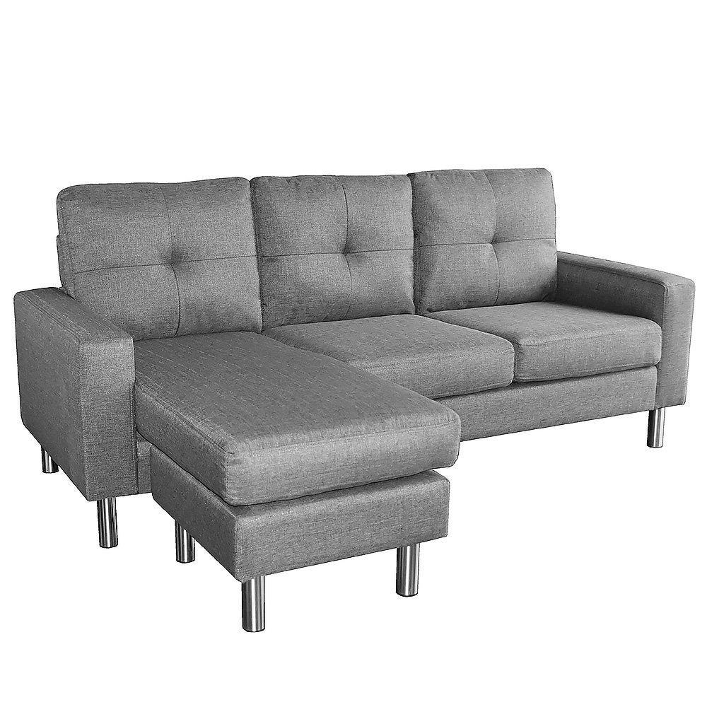 New Linen Corner Sofa Lounge Couch Modular Furniture L