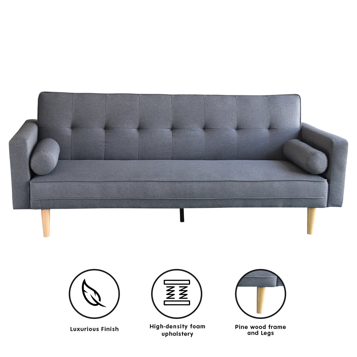 Prime Madison Sofa Bed Lounge Couch Futon Furniture Home Dark Grey Linen Suite Squirreltailoven Fun Painted Chair Ideas Images Squirreltailovenorg