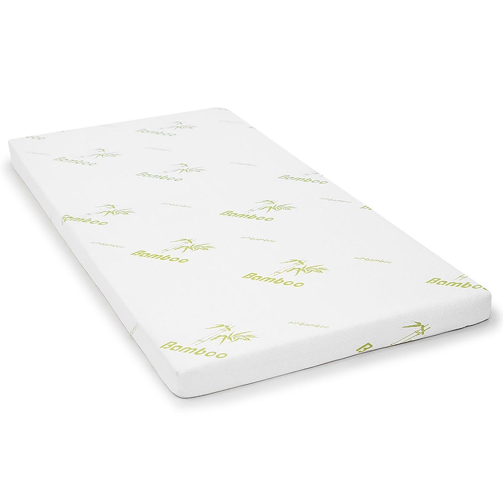 Cool Gel Memory Foam Mattress Topper Bamboo Fabric Cover Ecologic