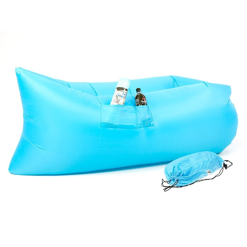 Strange Wallaroo Lazy Air Lounge Chair Inflatable Sleeping Camping Bed Beach Sofa Bag Pabps2019 Chair Design Images Pabps2019Com