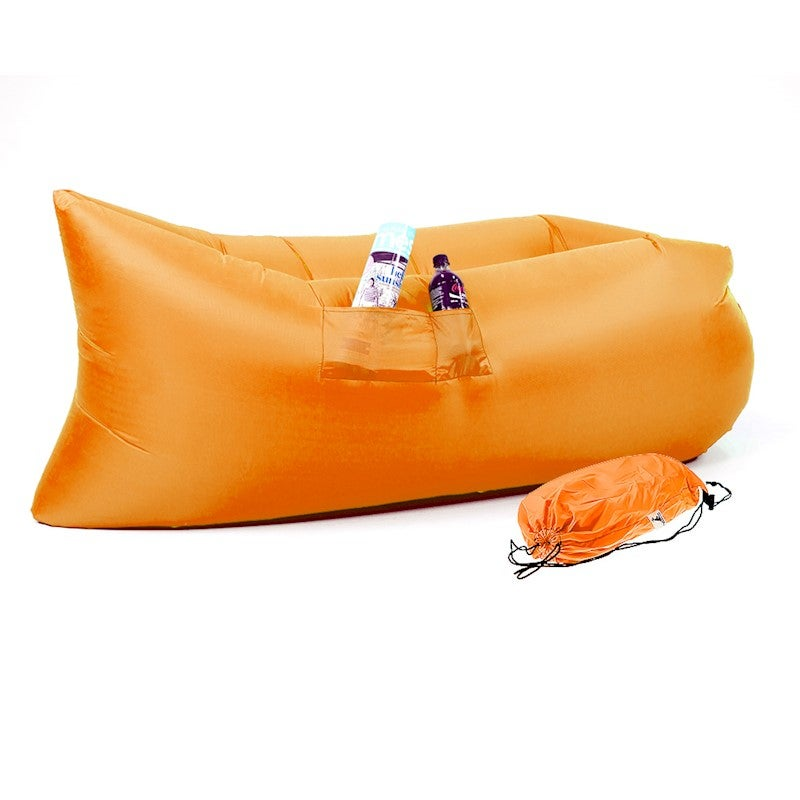 Fantastic Wallaroo Lazy Air Lounge Chair Inflatable Sleeping Camping Bed Beach Sofa Bag Pabps2019 Chair Design Images Pabps2019Com
