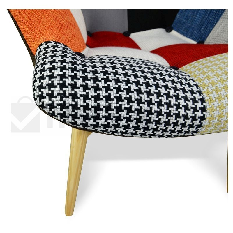 Ashton Sofa Dressed With Our Madison Ottoman And A: Replica Grant Featherston Chair + Ottoman Patchwork