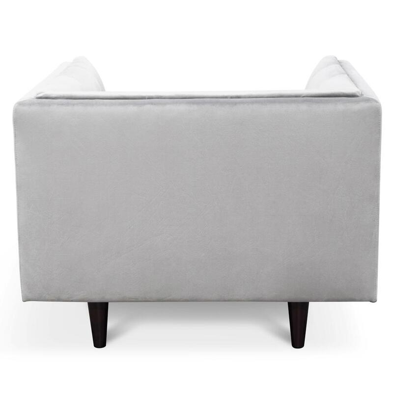 Alma Armchair - Silver Grey Velvet - Black | Buy Armchairs ...
