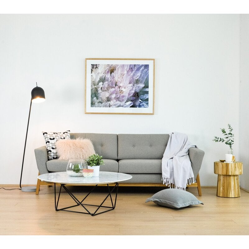 Helgrim 3 Seater Fabric Sofa Stone Grey Buy Sofas 192121