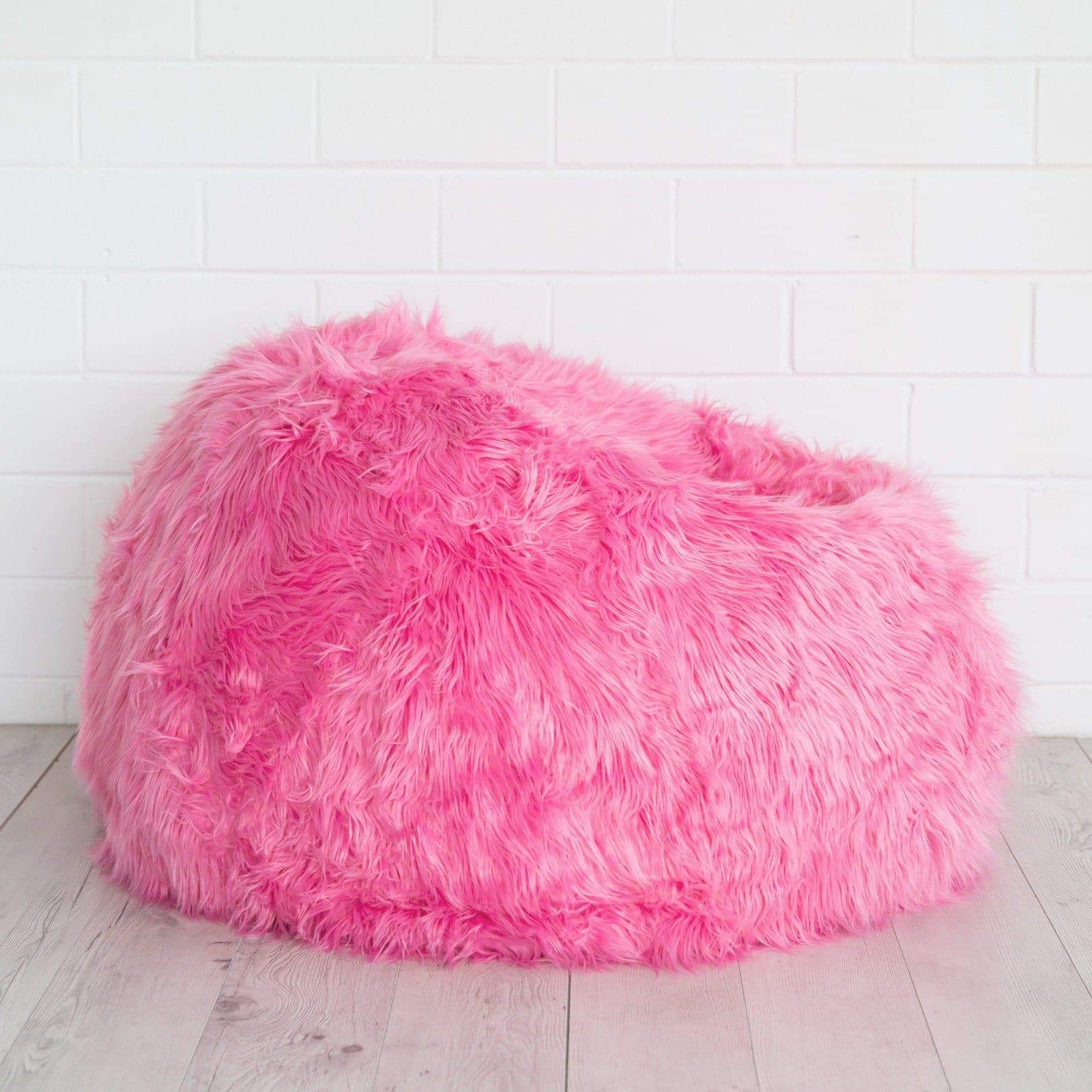 Tremendous Lush Fur Bean Bag Pink Caraccident5 Cool Chair Designs And Ideas Caraccident5Info